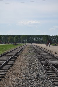 Train tracks, Auschwitz Birkenau