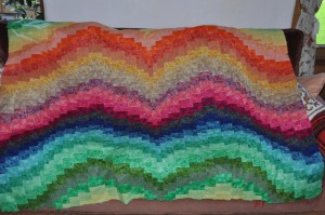 Bargello rainbow