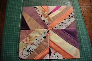 Pink silk patchwork