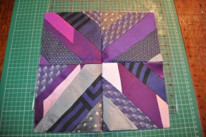 Purple silk patchwork