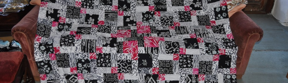 Black/White/Pink Disappearing Nine-Patch