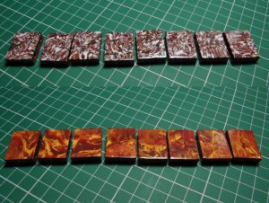 Reversilbe tile beads
