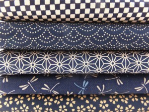 Blue Japanese fat quarters