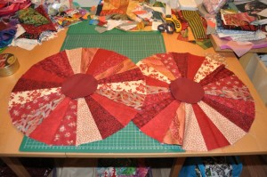 Aga lid covers pieced