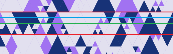 The rows of triangles