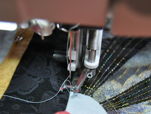 Bringing the bobbin thread to the top
