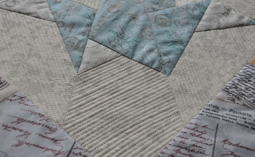 Foundation-Pieced Crane – Quilted!